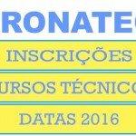 Inscrições Pronatec 2016