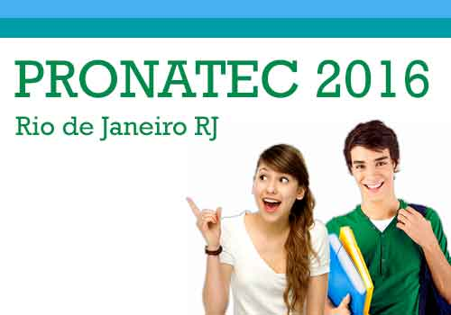 Pronatec RJ 2016