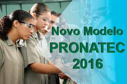 Novo modelo Pronatec 2016