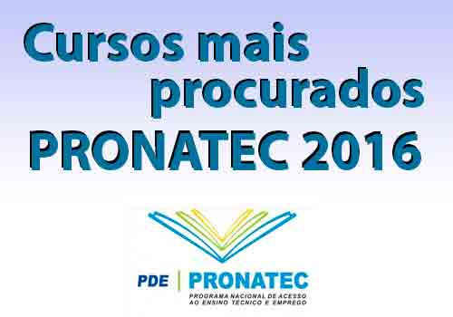 Cursos mais procurados do Pronatec