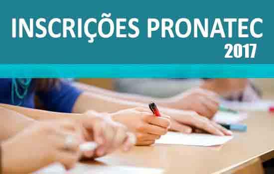 Inscrições Pronatec 2017