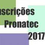 Inscrições Programa Pronatec 2017