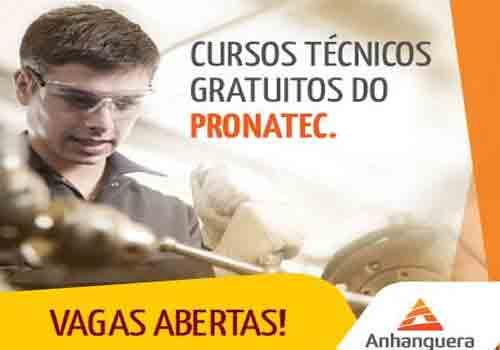 Pronatec Anhanguera Cursos 2017