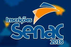 Inscrições SENAC 2018