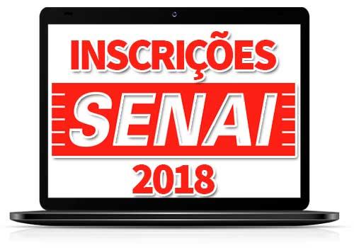 Inscrições SENAI 2018