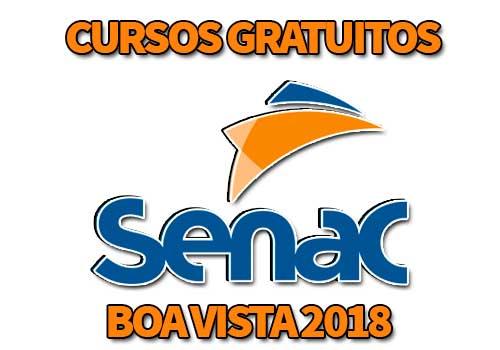 Cursos Gratuitos SENAC Boa Vista 2018