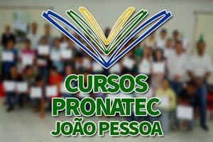 Cursos PRONATEC João Pessoa 2018