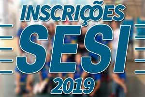 Inscrições SESI 2019