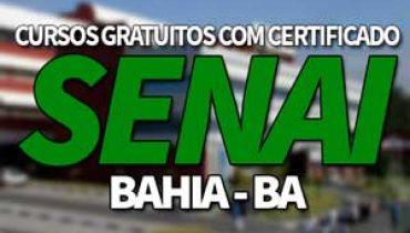 Cursos Gratuitos SENAI BA 2019 com Certificado