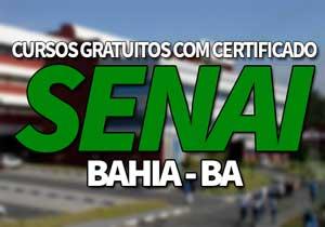 Cursos Gratuitos SENAI BA 2021 com Certificado →【Vagas Abertas】