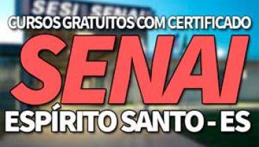 Cursos Gratuitos SENAI ES 2019 com Certificado