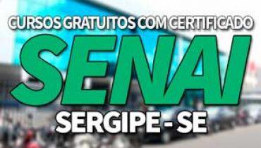 Cursos Gratuitos SENAI SE 2019 com Certificado