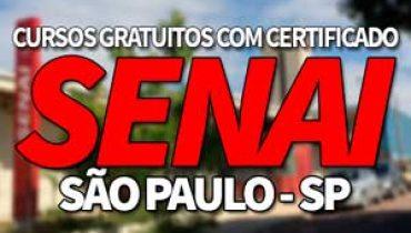 Cursos Gratuitos SENAI SP 2019 com Certificado