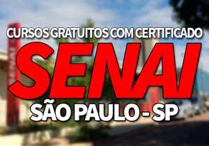 Cursos Gratuitos SENAI SP 2021 com Certificado → Inscrições, EAD