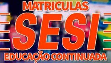 Matriculas SESI 2019