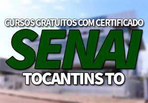 SENAICursos Gratuitos TO 2021 → Inscrições, Cursos EAD SENAI TO