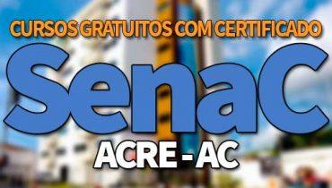 SENAC AC Cursos Gratuitos 2019