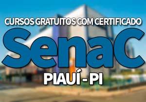 SENAC Cursos Gratuitos PI 2020 → Inscrições PSG SENAC 2020