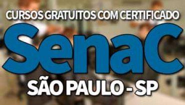 SENAC Cursos Gratuitos SP 2019