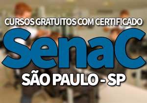 SENAC Cursos Gratuitos SP 2020 → Inscrições, Cursos, EAD SENAC