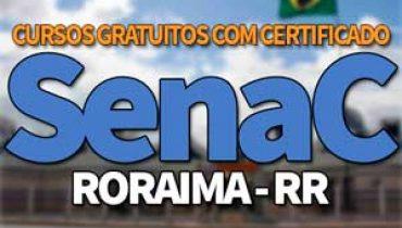 SENAC RR Cursos Gratuitos 2019