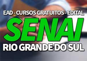 SENAI RS 2019 → Inscrições Cursos Gratuitos e EAD SENAI RS