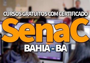 SENAC Cursos Gratuitos BA 2020 | Cursos Técnicos e EAD SENAC