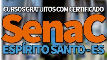 SENAC Cursos Gratuitos ES 2019