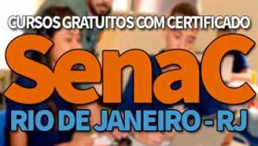 SENAC Cursos Gratuitos RJ 2019
