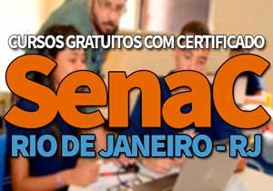 SENAC Cursos Gratuitos RJ 2019 | Inscrições SENAC 2019
