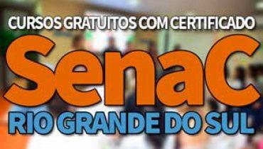 SENAC Cursos Gratuitos RS 2019