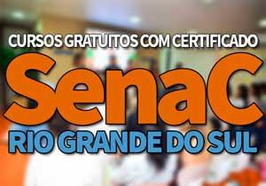 SENAC Cursos Gratuitos RS 2019: Cursos Técnicos e EAD SENAC 2019