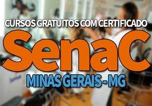SENAC MG Cursos Gratuitos 2019, Cursos, Inscrições EAD SENAC