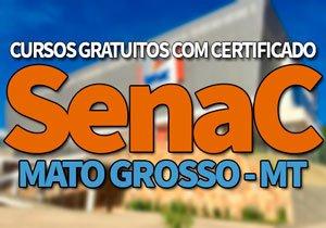 SENAC MT Cursos Gratuitos 2019, Processo Seletivo SENAC MT