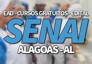 SENAI AL 2019, Cursos Gratuitos SENAI Maceió, Arapiraca 2019
