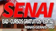 SENAI MG 2019, Inscrições, Cursos Gratuitos e EAD SENAI MG