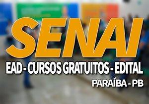 SENAI PB 2019, Cursos Técnicos e Gratuitos SENAI PB EAD 2019