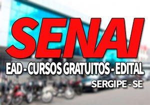 SENAI SE 2019, Inscrições, Cursos Gratuitos e EAD SENAI 2019