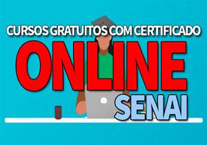 Cursos Online Gratuitos SENAI: Cursos Gratuitos EAD SENAI